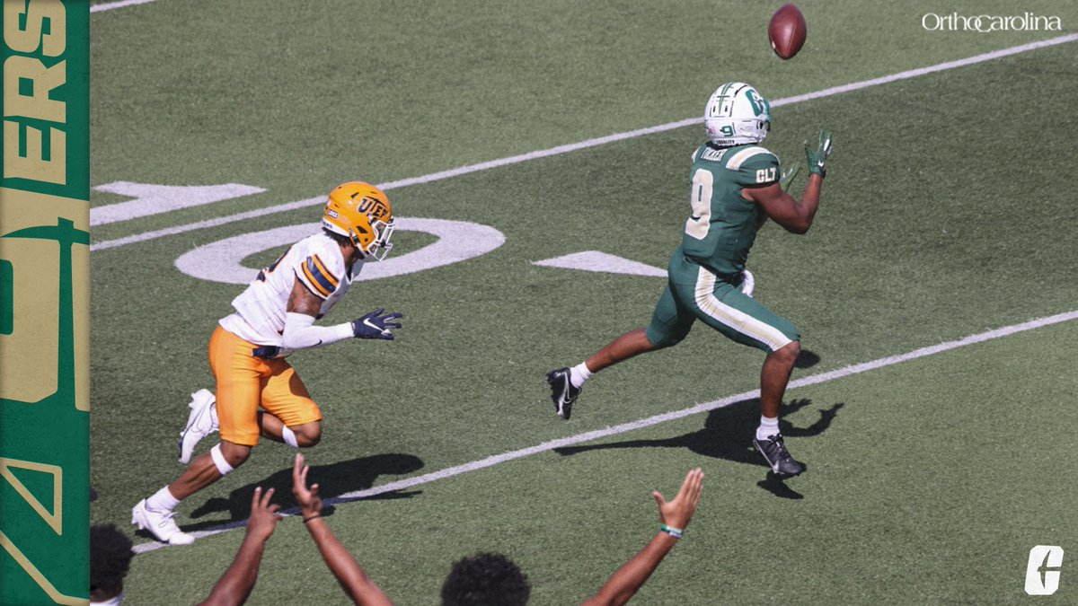 𝗦𝗣𝗥𝗘𝗔𝗗 𝗢𝗙𝗙𝗘𝗡𝗦𝗘 9️⃣ different Niners scored 1️⃣2️⃣ total touchdowns in the wins against North Texas and UTEP ✅ Camp Dollar Elder Harbison McAllister (4) McEachern Reynolds Thompson Tucker