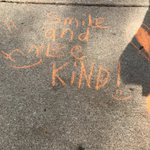 Image for the Tweet beginning: Chalking the walk with positive