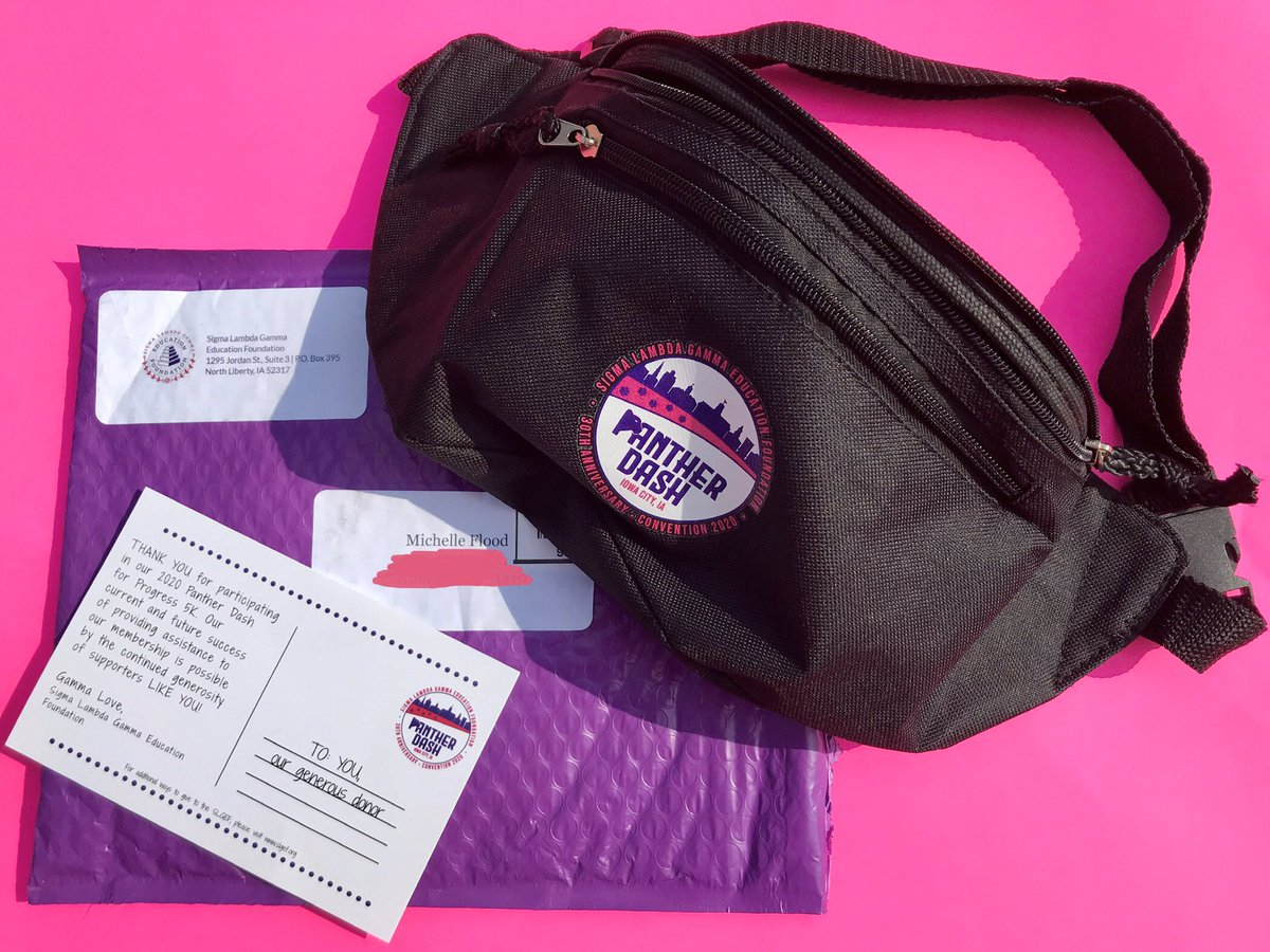 Last month, I ran/walked my 1st #PantherDash #VirtualRun for my sorority & received this fly fanny pack (which I now use every time I go walking + jogging) in the mail soon after 💜📦🥰🏃🏽♀️💖. Thank you to @slg_efoundation for the thank-you card & gift 🤗 #SLG #RunnersOfTwitter https://t.co/ZSruMhtc86