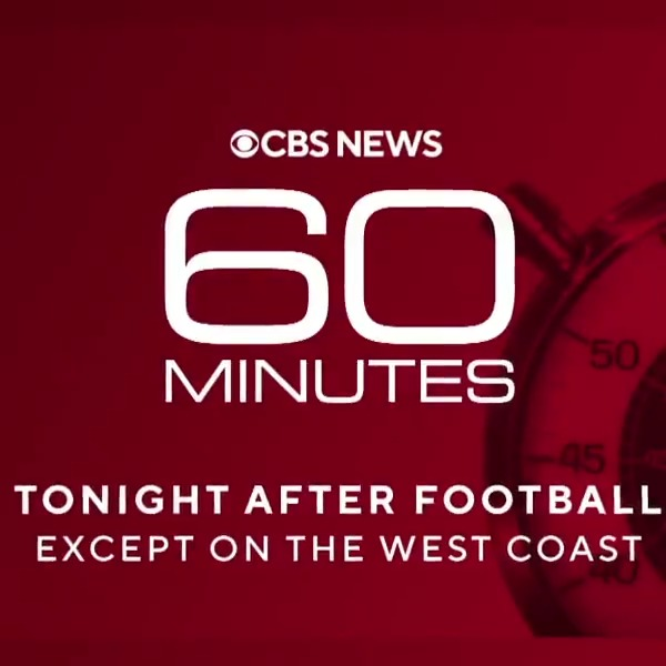 Tonight, after the game, dont miss @60Minutes.