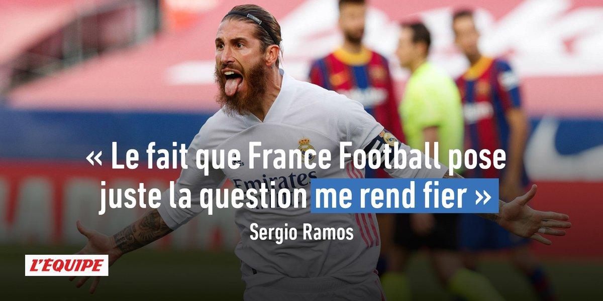 Sergio Ramos fier d'être mentionné par France Football : https://t.co/HuHcCwfdF4 https://t.co/P56KADMclm