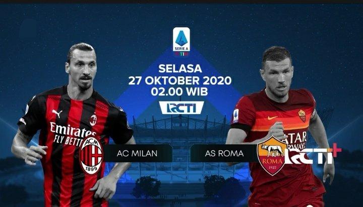 #Jadwal Siaran Langsung Serie A Selasa 27 Oktober 2020  Milan vs Roma 02:45 Live beIN Sports HD 1, 4, beIN Sports 2 Indonesia, beIN Connect Indonesia, Arena Sport 1 Serbia, Fox Sports Malaysia, Setanta Sports 1, RCTI, UseeTV GO  (WIB) https://t.co/13tO3ZB2uZ