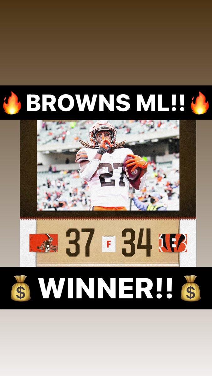 🤑@Browns ML is a WINNER!!🤑  🔥484-199-11🔥  #ATS #WeWinWhenYOUWIN  #sportsbetting #sportsbettingadvice #sportsconsultant #sportsconsulting #parlay #handicapper  #ncaa #nba #nhl #mlb #mls #giveaway #barstoolsports #barstool #cashgiveaway #freepicks #freepicksdaily https://t.co/EW8fILMWFE