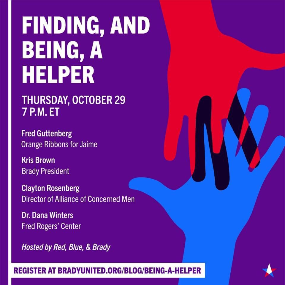 Join @bradybuzz and I for a virtual event as we discuss my new book and the importance of cultivating compassion, with Clayton Rosenberg of the Alliance of Concerned Men and Dr. Dana Winters of the Fred Rogers' Center. https://t.co/1X8uhGV4Pr @fred_guttenberg https://t.co/LihmcBGoj1