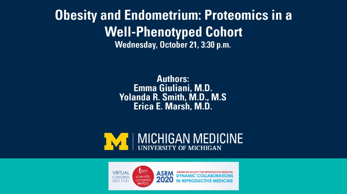 Does #obesity impact the physiology of human endometrium? A @UmichMedicine team, led by @EricaMarshMD, presented research on this at #ASRM2020: https://t.co/qC6M60YxCj. https://t.co/kvAFjeexFv