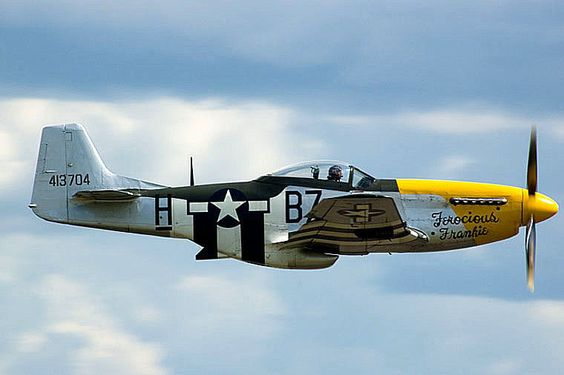 A picture of Ferocious Frankie. This is the Mustang P51D #airplane. I have seen many of these on #racing competitions. https://t.co/s5WpbL05GN