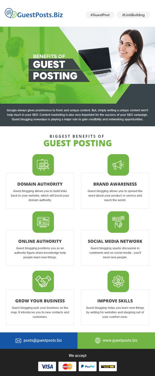 Benefits of guest posting https://t.co/p2IL4Y1W7V #GuestPost #backlinksbulding #blogging #bloggers #blogs #websitetraffic #outreach #contentmarketing https://t.co/r3kWxnPv8R
