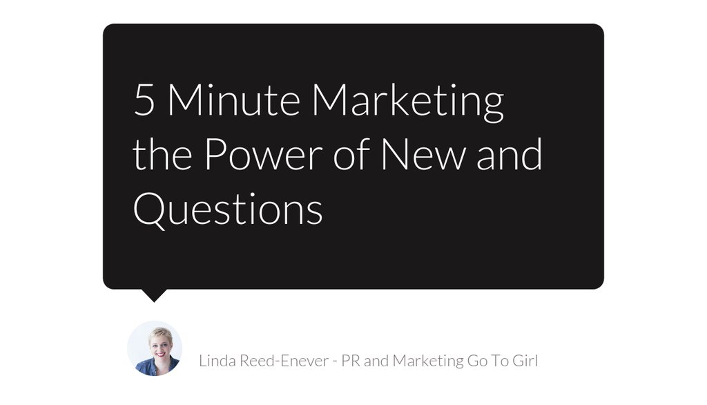5 Minute Marketing the Power of New and Questions https://t.co/OcrIqS1UNl   #contentmarketing #5minutemarketing #Marketingtip #Businesstip https://t.co/EcOunL90ML