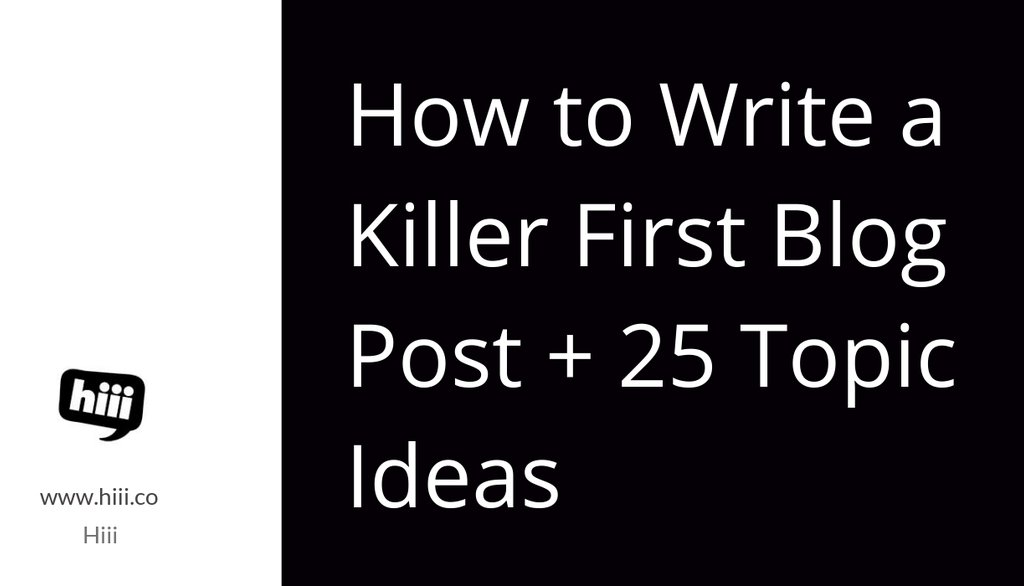 How to Write a Killer First Blog Post + 25 Topic Ideas: https://t.co/tSdSmDAusr  #contentmarketing #blogging https://t.co/r8Zf8nQjTr