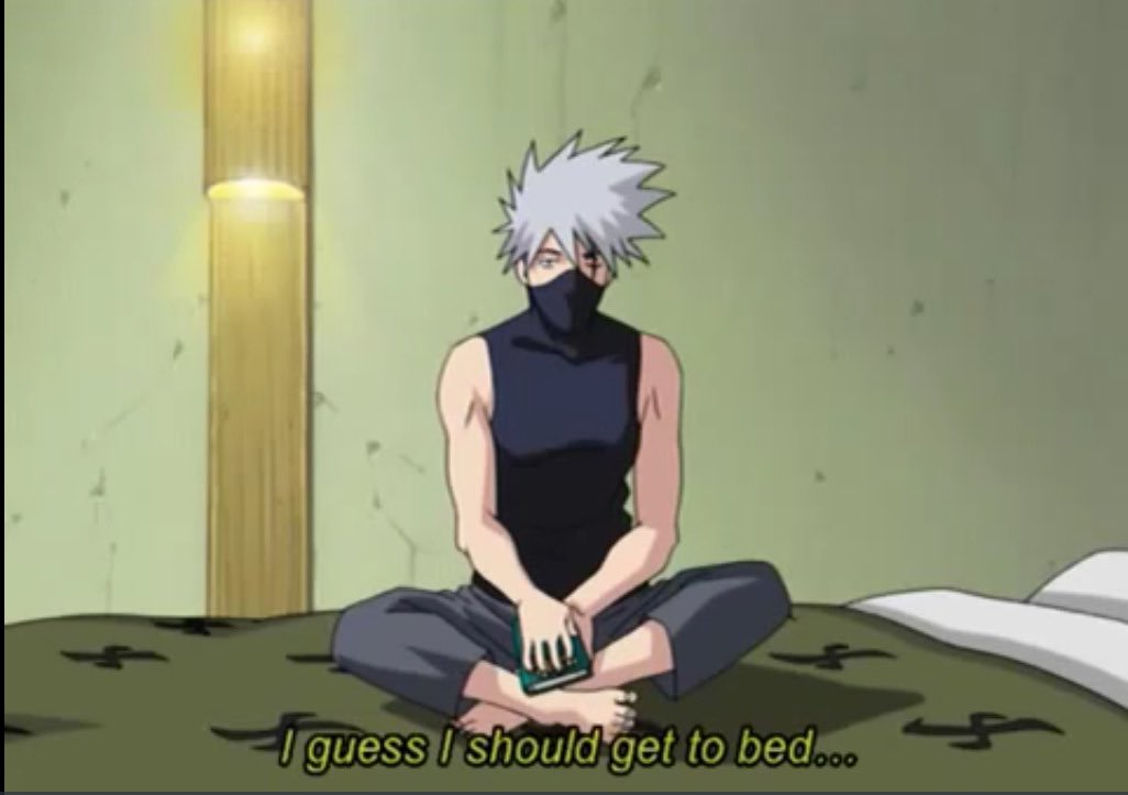 Literally me after watching anime all night