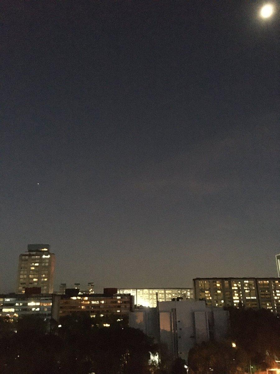#Marte y la Luna desde la Ciudad de México #iPhoneSE #SkyView https://t.co/oO0JtZOoMp