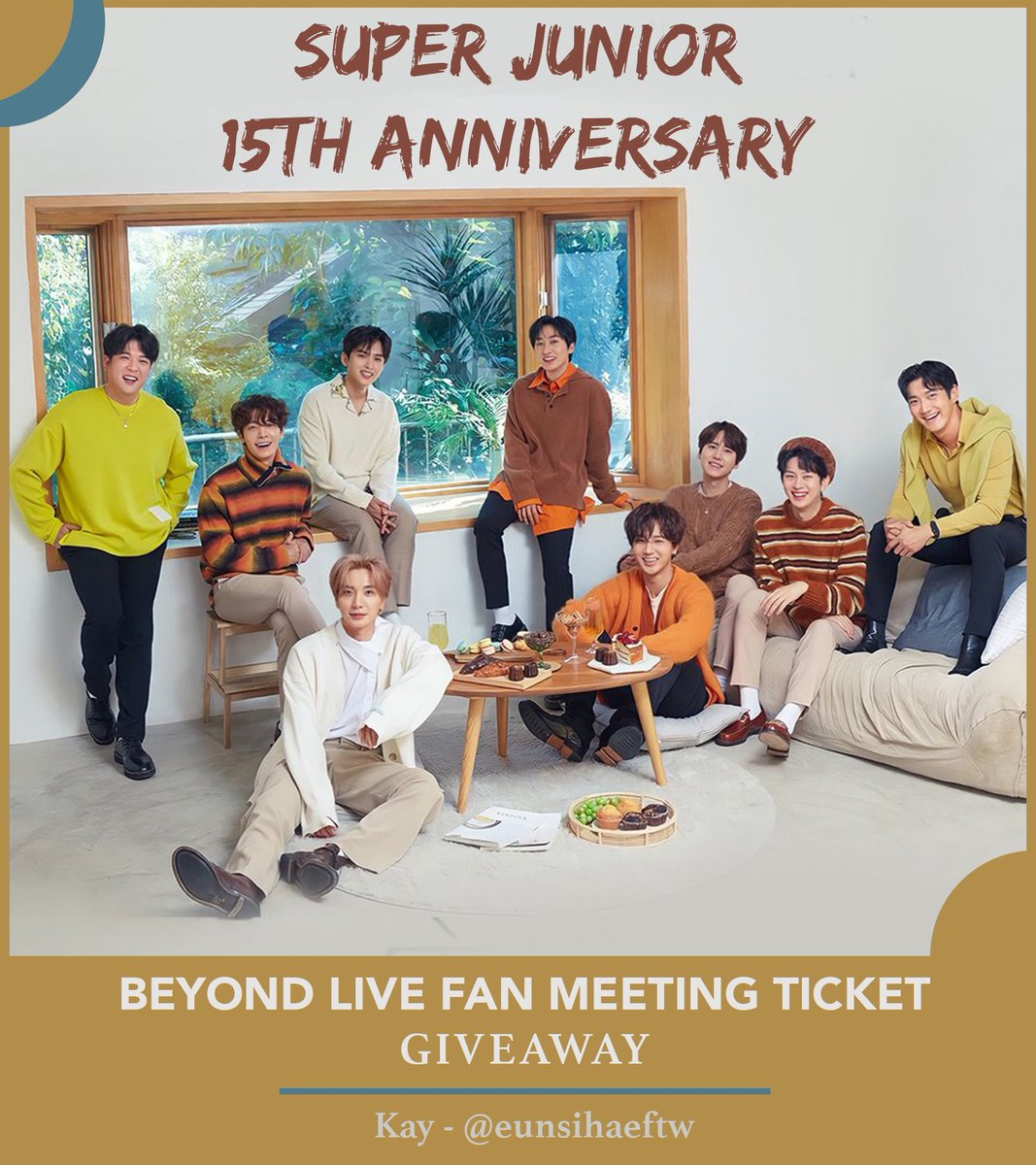 🌅BONUS D-11 Anniv GA marathon🌄  🎁 no 3 :  Beyond Live Fanmeeting event ticket💫  💙Read Rules‼️ 💙tag @SJofficial & 3 of your friends. 💙Open WW 💙2 Winners for Live Streaming & 3 runner-ups for VOD  Ends : Wed 4th Nov 11:59 PM KST ✨ #15thAnniv_WalkTogether  #SUPERJUNIOR https://t.co/jW7QRLWf1B