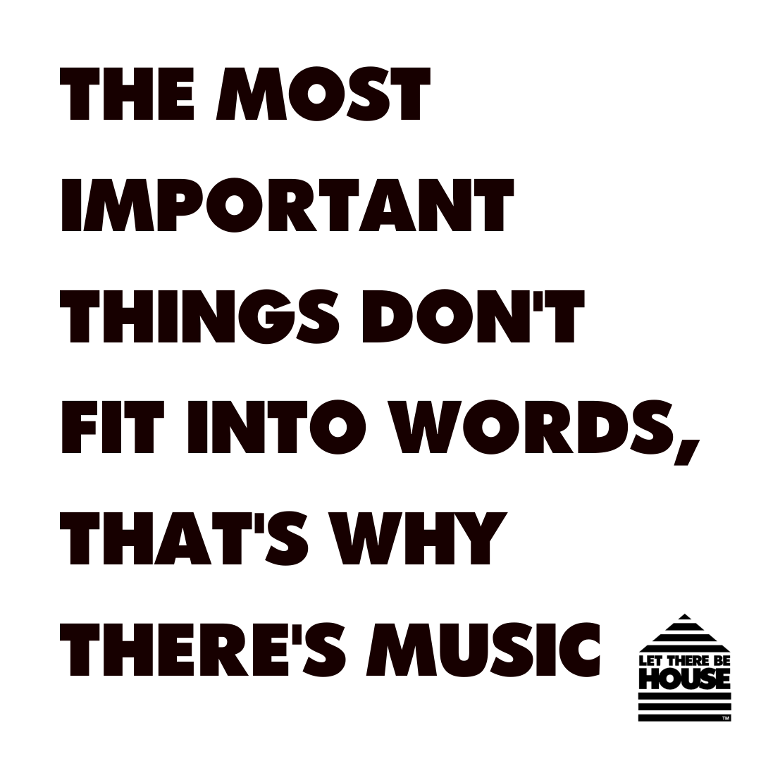 The most important things don't fit into words, that's why there's music🙏🏻  #LTBH #LetThereBeHouse #MusicIsTheAnswer #InItTogether #MondayMotivation https://t.co/Cmsn8WTJGE