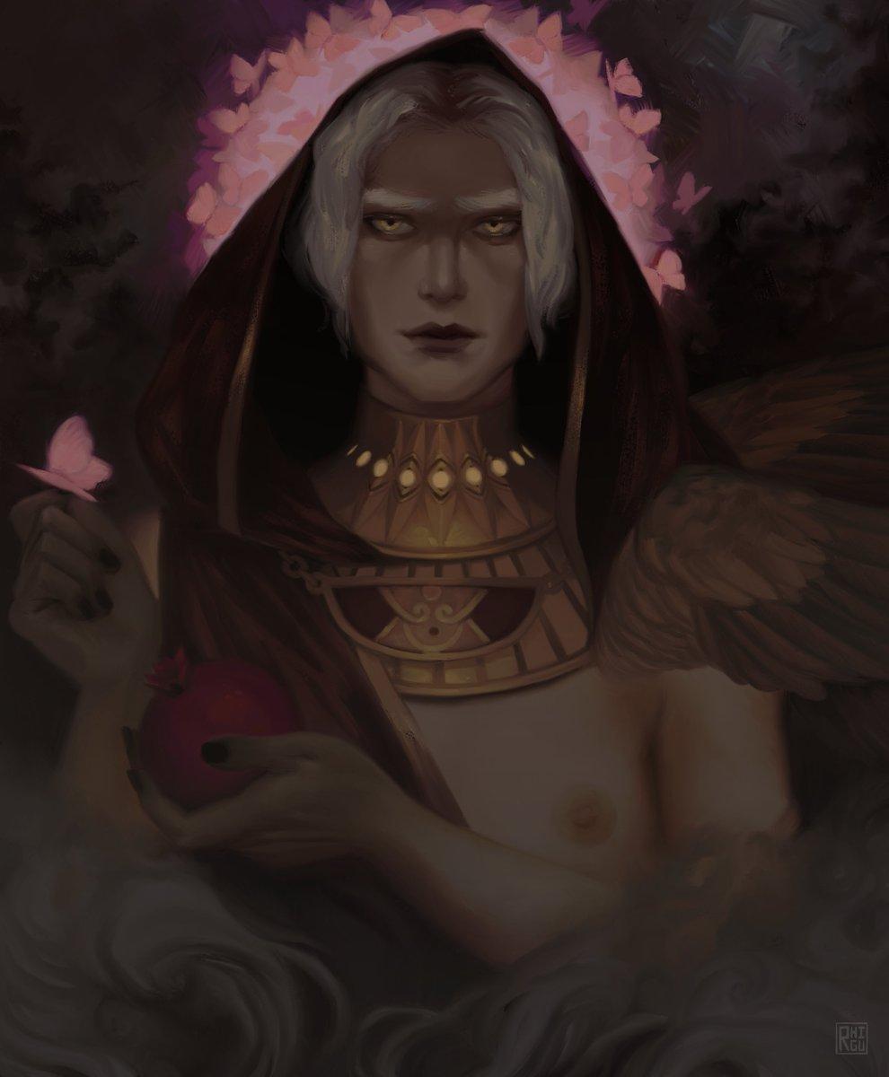 Venus Verticordia but its trans thanatos thanks for coming to my ted talk. #HadesGame #HadesFanArt