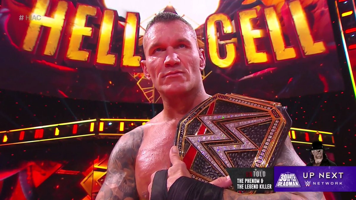 New #WWEChampion = @RandyOrton. #HIAC Subject of the newest episode of #WWEUntold = @RandyOrton ... and The @undertaker! The Phenom and The Legend Killer streams now on @WWENetwork: wwenetwork.com.