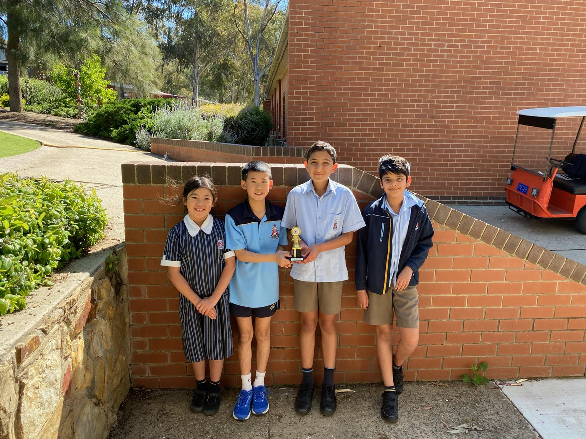 CGS Chess Success! Congratulations to the Senior School #chess team who placed 1st and 3rd in the #ACT Secondary School Chess Competition and the Junior School chess team who placed 3rd.   Pictured: Sid (Year 6), Rohintash (Year 6), Jayden (Year 6) and Adeline (Year 3).