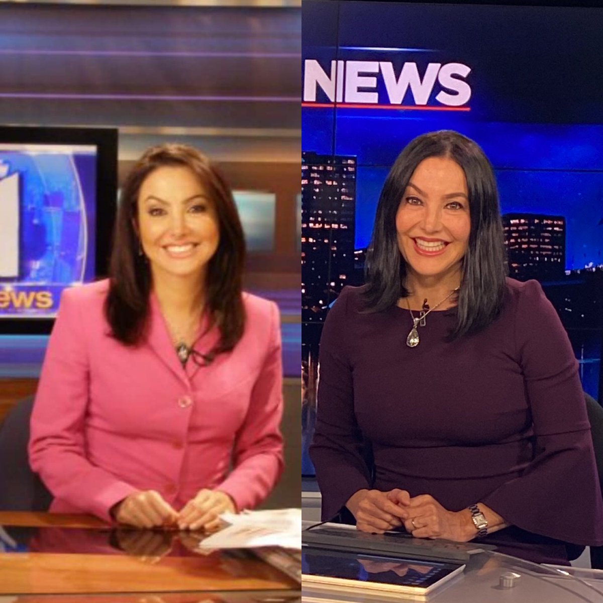 Two pics 15 years apart to the day. Left is me anchoring the news at @PIX11News in #newyork & right is at @WFSBnews in #connecticut. Marriage & motherhood are just a few of the things that have changed. A little older & wiser. Time has a way of showing us what really matters. ❤️ https://t.co/T4NScbgQBc