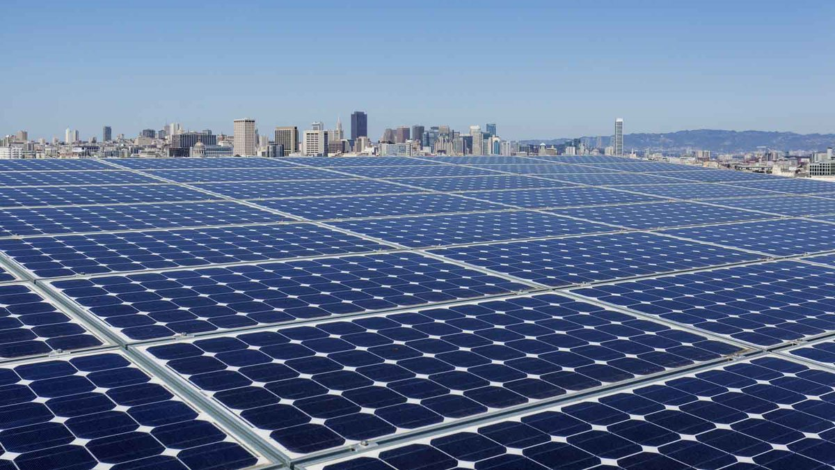 Within five years,  #Democrats will install 500 million solar panels, including 8 million solar roofs &community solar energy systems & 60,000 wind turbines &turn American ingenuity into American jobs by leveraging federal policy to manufacture renewable energy solutions 5/19
