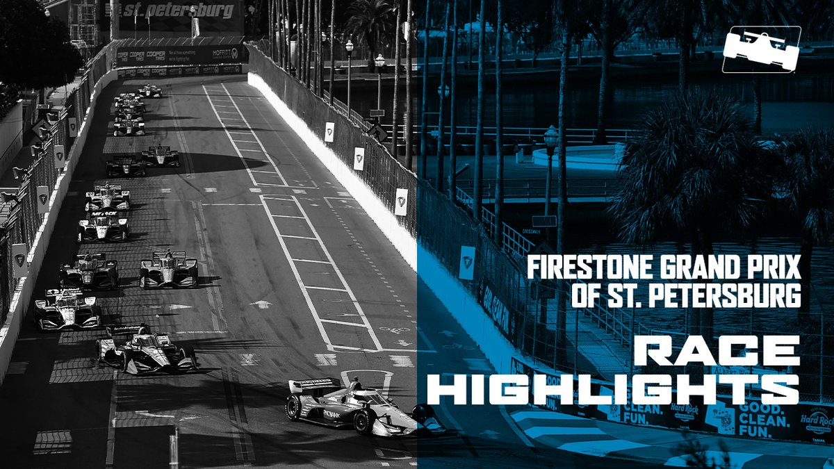 Did you miss the 2020 season finale race in St. Petersburg yesterday?   Watch the race highlights now, in under 7 minutes.   Highlights: https://t.co/2FEyUzm0HV  #INDYCAR // @GPSTPETE https://t.co/kPmexiNSAD