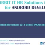Image for the Tweet beginning: #Hiring #Android at #Ahmedabad  2-4 Years 20-50k