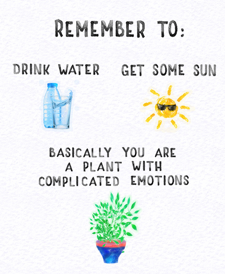 Take a moment for self-care 🌱 If youre in crisis, reach out to us 24/7 at: 866.488.7386 or text/chat at: thetrevorproject.org/help 📲 🎨 art by harmony-is-happiness.tumblr.com 🎨 #lgbtq #trans