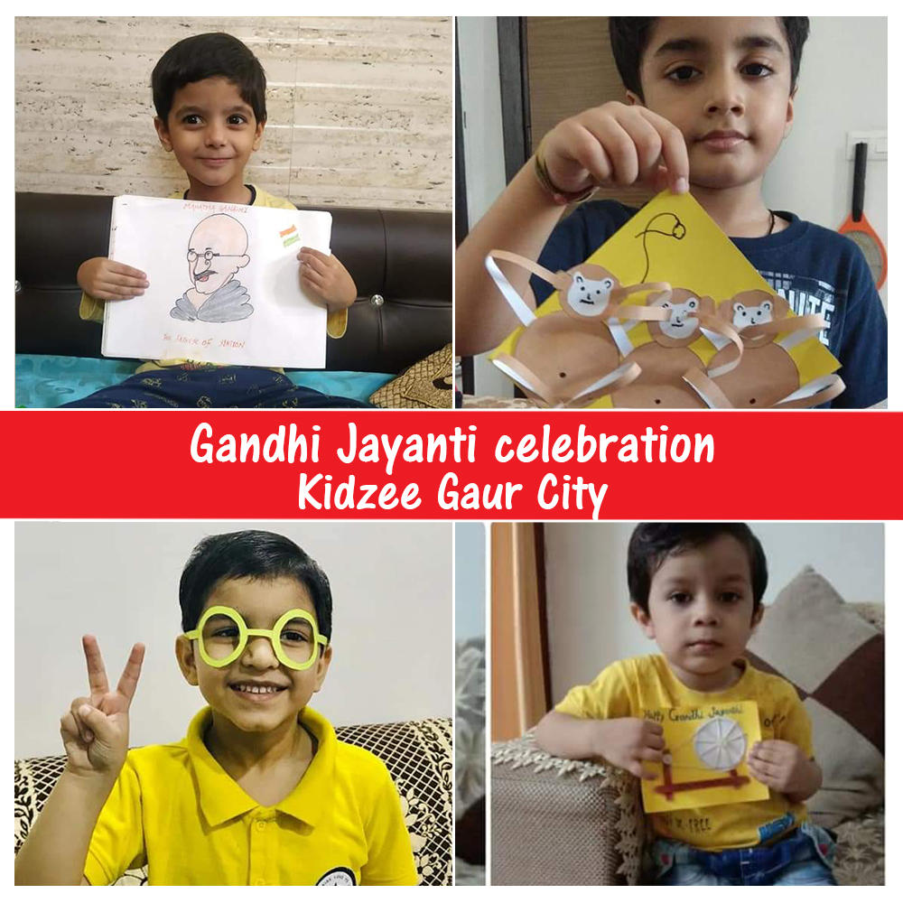 The students of Kidzee Gaur City celebrated #GandhiJayanti with a lot of enthusiasm! They made 3D art of certain things and symbols that represent #MahatmaGandhi in his truest form.  #Kidzee #KidzeeStudents #LalBahadurShastriJayanti #LalBahadurShastri #GandhiJi #Mahatma #Gandhi https://t.co/qVSW13pqRN