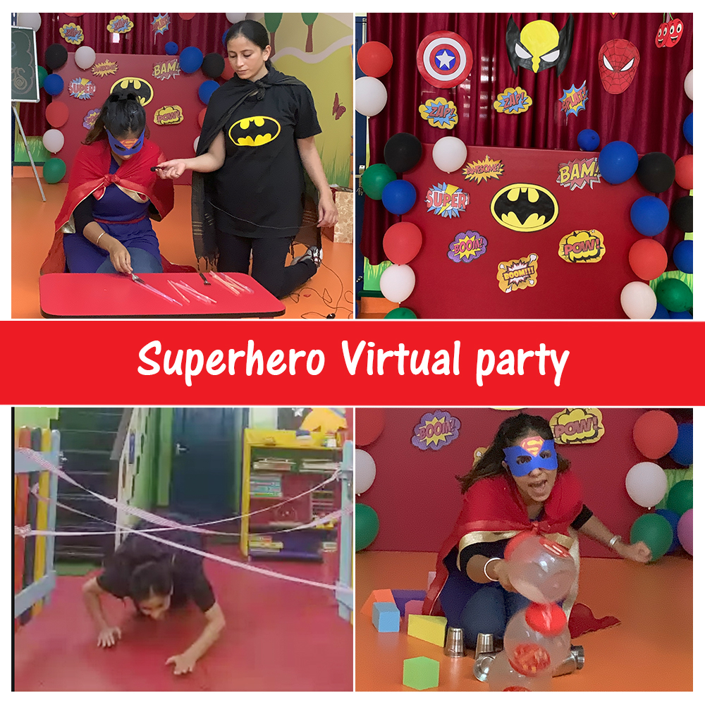Superheroes are everywhere.  The teachers of #Kidzee Race Course Dehradun organized a #virtual #superhero #party for the little ones by dressing up as various superheroes, like Batman, Superman, etc.   It was an exciting, fun day for all!  #KidzeeStudents #SuperheroParty https://t.co/g9ipeE3LXH