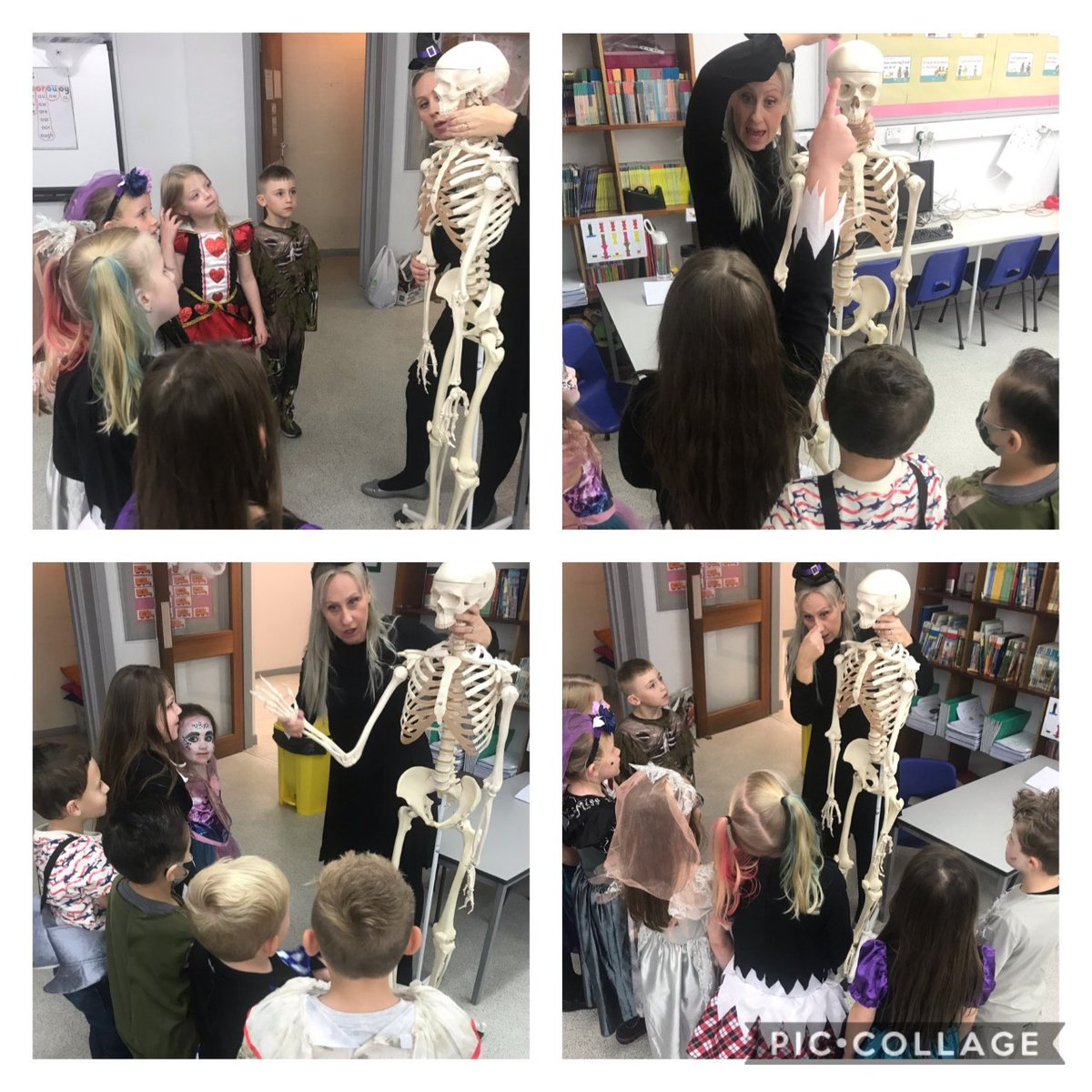 Had a special visitor in class last week...Bony Tony. The children loved learning about the human skeleton 💀#edutwitter #PrimaryRocks #HappyHalloween2020