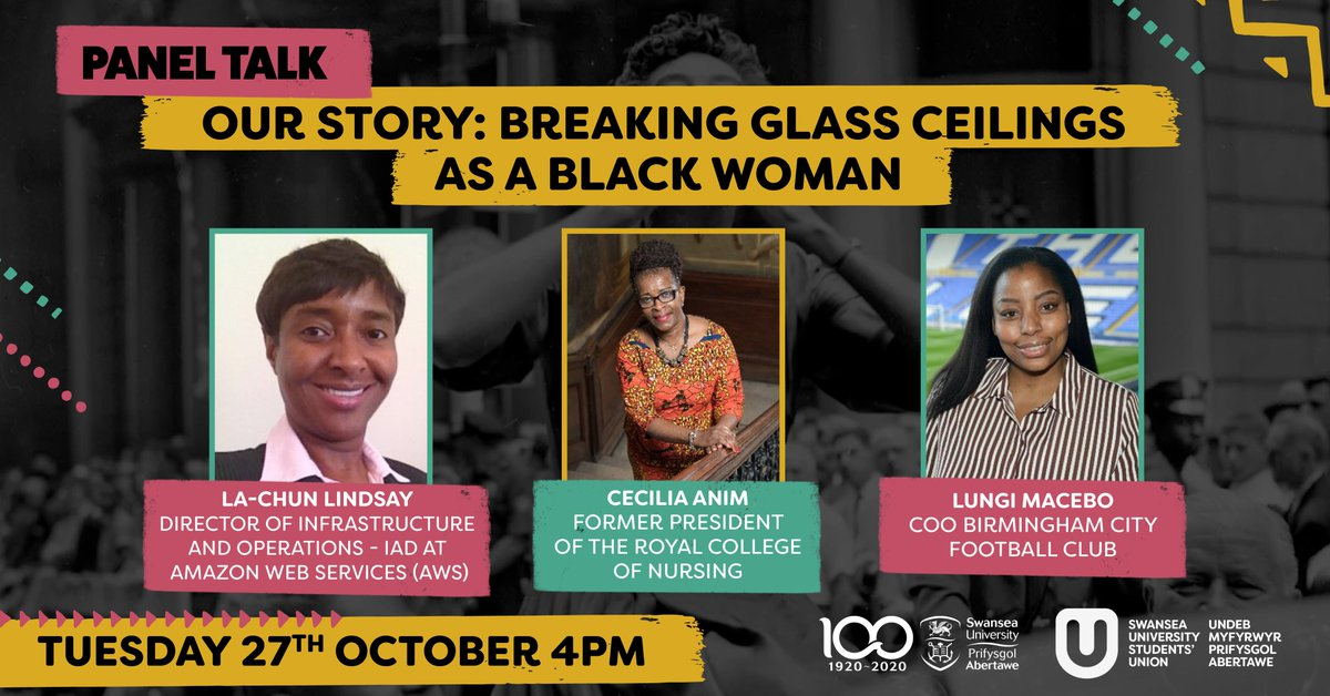 As we continue to mark #BlackHistoryMonth , join us for a panel discussion between trailblazers @lachun1, @cisanim and Lungi Macebo, COO of @BCFC, as they discuss their experiences of breaking glass ceilings.   📆 27 Oct 🕓 4pm 💻 https://t.co/HNXYs7QEz7 https://t.co/DC6Glc5xoK