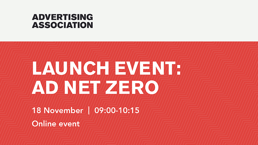 Join us on 18th November for the launch of Ad Net Zero: UK advertising's response to the climate emergency.   Read more & sign up for your free ticket here: https://t.co/7UI8xCWNmi  #Advertising #Climate #ClimateAction https://t.co/gVziEfCCSe