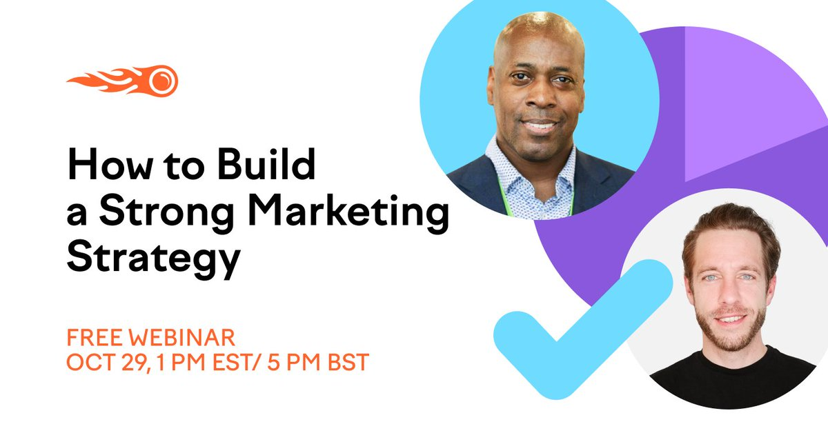 Need to build a stronger marketing strategy for 2021? 🚀 Register for this rocking FREE webinar where @tristamjarman and @jimmynewson1 will share market analysis tips, tricks, and strategies to get a complete picture of your industry and its competitors https://t.co/lsE1ESvEcG https://t.co/8QxaDArDMS