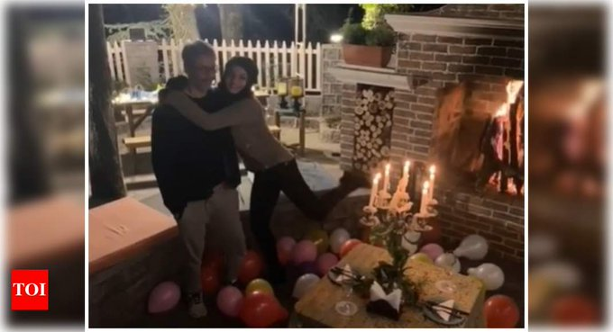 Raveena gets a sweet b\day surprise from hubby