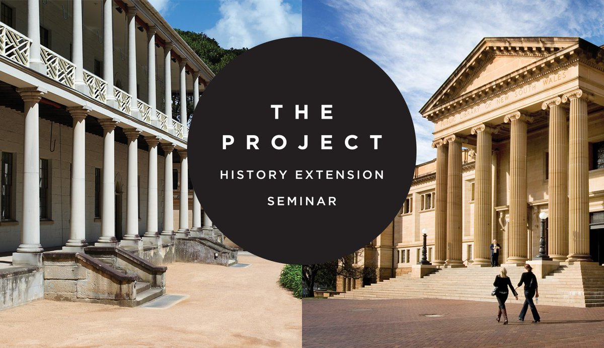 History teachers, our annual History Extension seminar for Stage 6 students is going virtual this year! Presented in partnership with @statelibrarynsw on Friday 6 November.   For details, visit https://t.co/GPqtqyVLur https://t.co/cJ29UOY9Ut