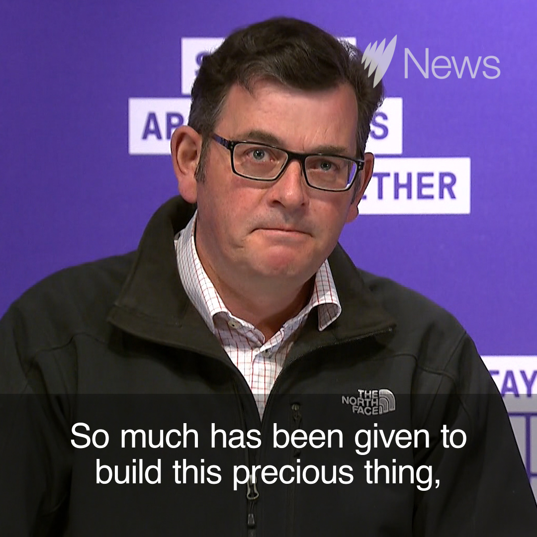 'Can we finally get on the beers?': Victorian Premier Daniel Andrews congratulated and cautioned Victorians after he announced a long-awaited easing of COVID-19 restrictions for the state. https://t.co/n0s0h9iALD