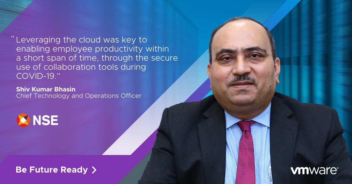 In uncertain times, #technology is crucial in navigating #change. Learn how organizations like National Stock Exchange of India have ensured business continuity. Watch Faster To The Future here: https://t.co/xeUWEu3LuH  #VMwareFutureReady https://t.co/bA1O7G2AbB