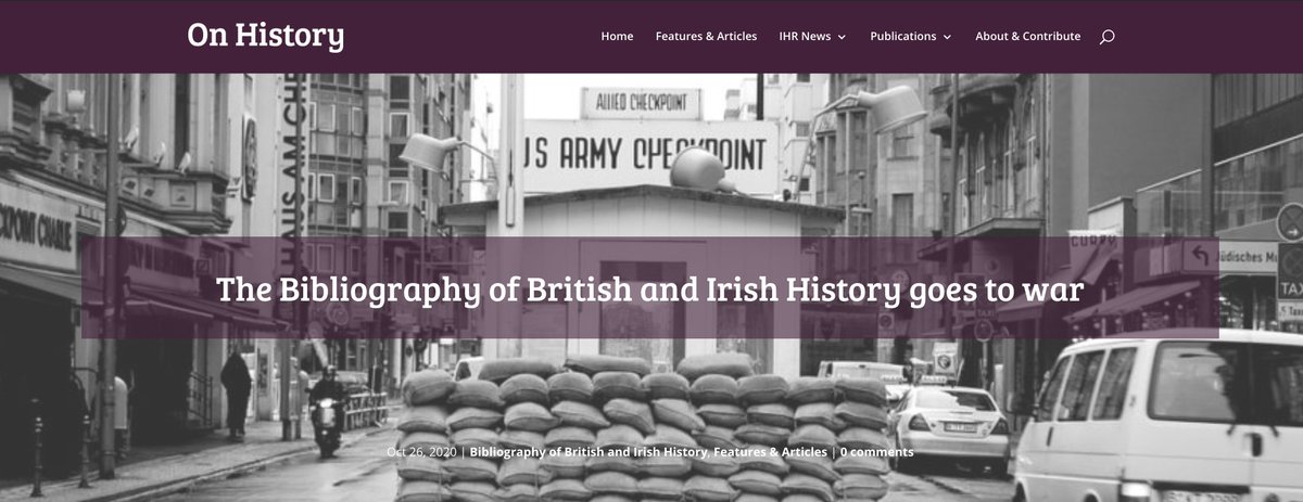 New on the blog: IHR (virtual) summer intern Isaac Woolley considers what #BBIH tells us about publishing trends in the history of war blog.history.ac.uk/2020/10/the-bi… Isaac was one of 6 @uniofleicester interns who worked with IHR from July to Sept. Thanks to all and to @historyleic