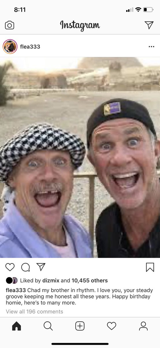 The rhythm section of the Red Hot Chili Peppers have never looked more like lost Chuckle Brothers than in Flea's Instagram post from today. (I had to wait until British people were awake to post this) https://t.co/Gz1yZlXDcY
