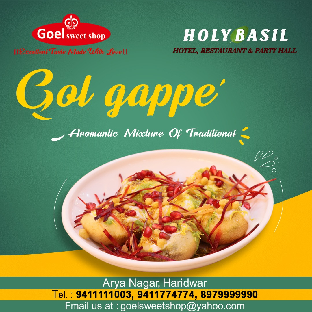 Come and enjoy the crisp and crusty 𝐆𝐨𝐥 𝐆𝐚𝐩𝐩𝐚𝐬 filled with potatoes, sweet chutney and chilled flavored water make a perfect and great snack any time of the day.  #golgappe #crispy #sweetchutney #mouthwatering #tasty #foodislife #snacktime #GoelSweetShop #Haridwar https://t.co/QF7pTtKzba