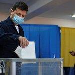 Image for the Tweet beginning: Партия Зеленского проиграла выборы  Итоги местных