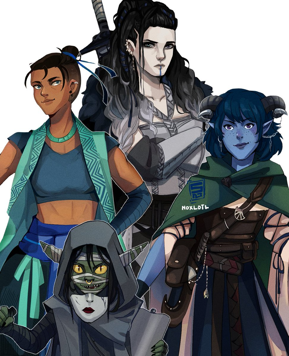 Mighty Nein gals ✨ #CriticalRole #CriticalRoleArt finally halfway done~