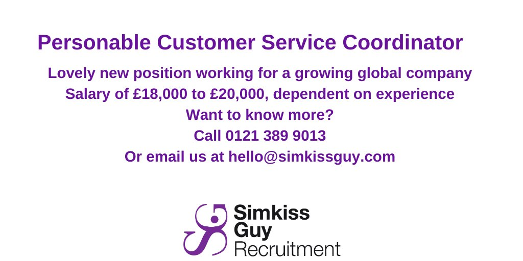 Are you a personable and engaging customer service professional? simkissguy.com/personable-cus…