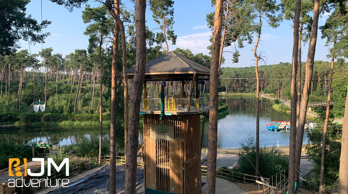 🌳 Who is visiting @CenterParcsUK this week? If you are heading to Woburn Forest then make sure you have a go on the drop tower we built - lots of fun to be had!  💻 https://t.co/YHfKFsuxVI  #adventure #treetopadventure #outdooradventure  #centerparcs #halfterm @CP_UK_Woburn https://t.co/a0AdaXcjZk