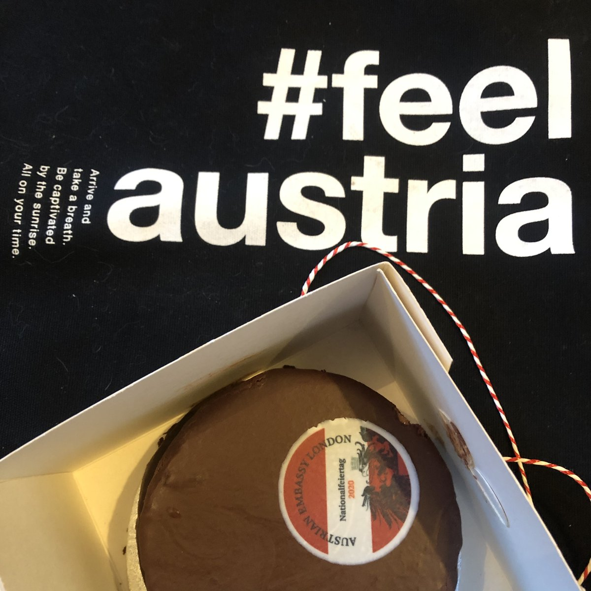 test Twitter Media - Toasting milestones with #Austria today: 65 yrs since it regained sovereignty after WWII & joined the UN & 25yrs of EU membership. We celebrate with HE @MZimmermannAT @austriainuk & all Austrian friends with a slice of Austria baked by Embassy Chef Franz Schinagl. Vielen Dank! https://t.co/9sMUtLyY0C