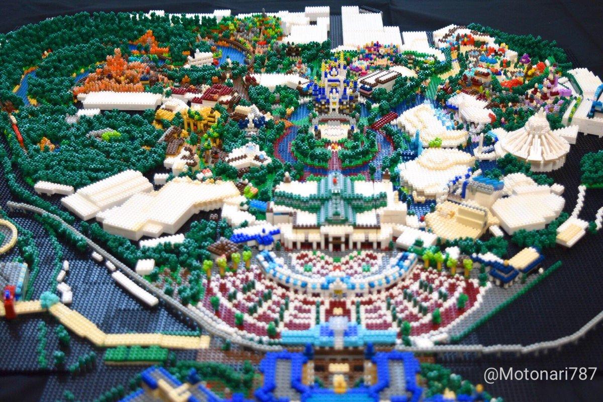【ナノブロック作品2020-34】「Tokyo Disneyland 2020」2013年製作の東京ディズニーランド全景を2020年バージョンへアップデートしました!前回2017年のアップデート以来3年分の各種更新に加え、9月にオープンした大規模開発エリアを反映しました。#ナノブロック #TDL #東京ディズニーランド