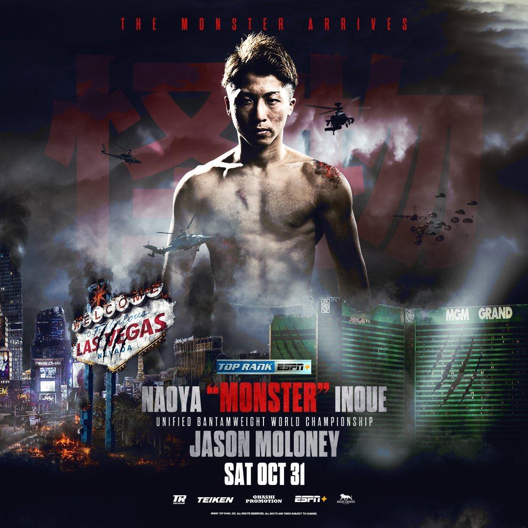 ブログを更新しました。 「今週のボクシング注目カード(10/26-11/1)海外編 Monster vs. Mayhem 」- デラホーヤ(魚)のGLOVEびいき  https://t.co/XYFNUcdnJE  @naoyainoue_410 🆚 @JasonMoloney1 #InoueMoloney #TOPRANK #WOWOW #FUJIBOXING https://t.co/1aZMFht1u2
