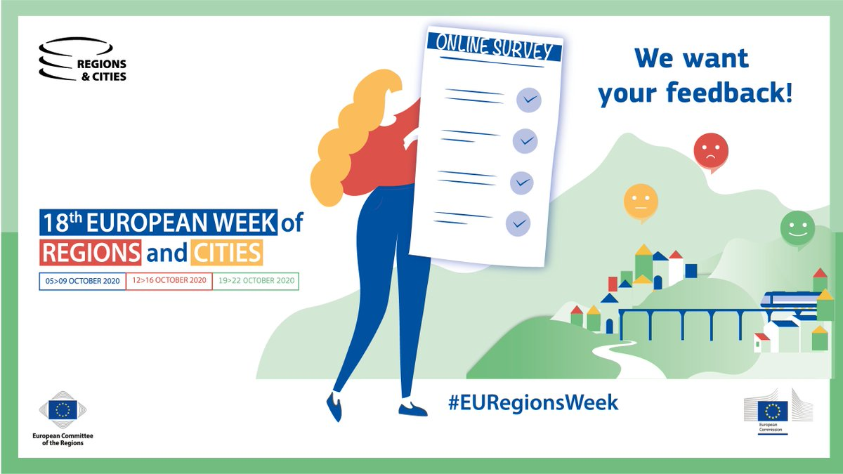 Thank you all for making this first all-digital edition of the #EURegionsWeek a wonderful adventure.  🗣️Your feedback matters!   Please take a few minutes to complete the following survey by 30 October:  ➡️ https://t.co/4fVro5xIym https://t.co/YUMUKK0w9t