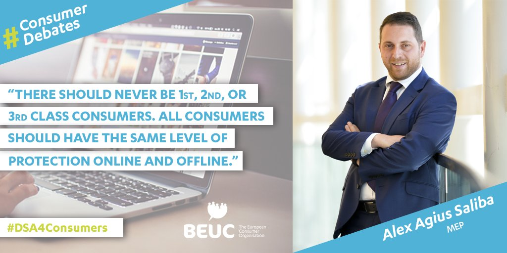 1⃣ The @EU_Commission's #DigitalServicesAct proposal needs to be ambitious in order to protect all consumers, especially when it comes to online marketplaces emphasised MEP @alexagiussaliba during our #DSA4Consumers debate. https://t.co/krqWse4Shq