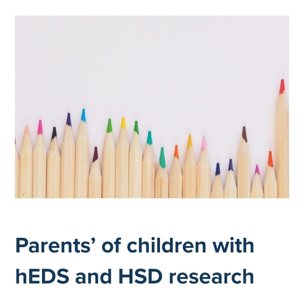 We have a NEW project page!  This research explored experiences of healthcare from parents' perspectives in relation to their children with diagnosed/suspected hEDS or HSD.  https://t.co/Y1MIrxW3iV  @laurenmpurdy @GemmaSPearce @KayJulier @DrEReinhold @ehlersdanlosuk @HMSACharity https://t.co/QE0CiY1x6D