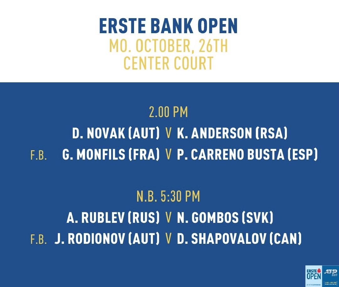 Today's OP on Center Court #erstebankopen https://t.co/8IKQfb75Gk