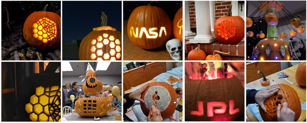 It's #NationalPumpkinDay, you say? We can get on-gourd with that! 🎃  Celebrate by carving a pumpkin with a fun NASA-themed stencil from @NASAGoddard. https://t.co/QycZVP1N19.  Or take it to the next level with ideas from @NASAJPL engineers! https://t.co/uaiD6QwLjh https://t.co/vQfgryru0g